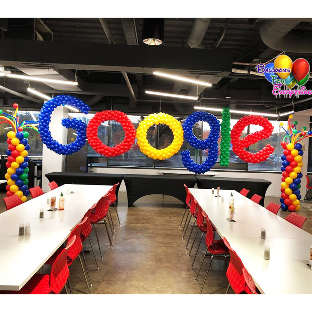 Google Balloon Letter Sculptures