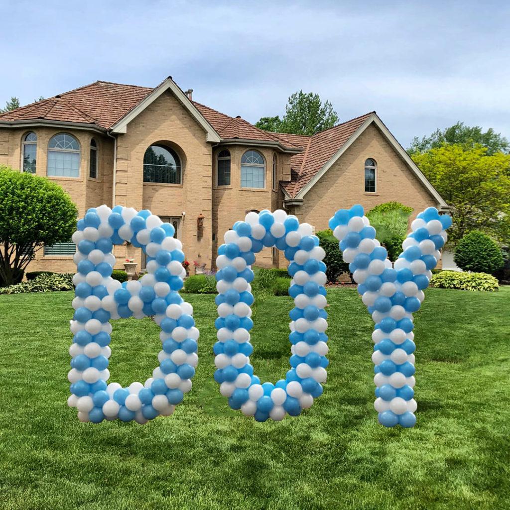 Baby Balloon Letter Sculptures