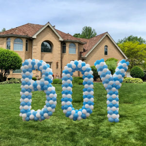 Baby Balloon Letter Sculptures