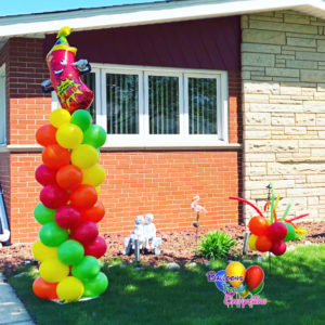 Big Column with Foil Balloon