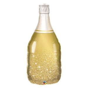 39in Bubbly Wine Bottle Balloon