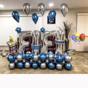 Chrome Deluxe Balloon Bouquet