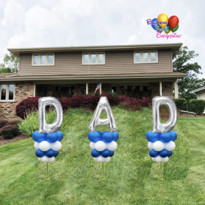 Balloon Decorations, Yard Balloon Decor, Number and Letter Yard Stick