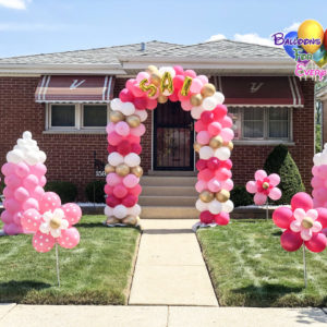 Balloon Decorations, Yard Balloon Decor, Flower Stick
