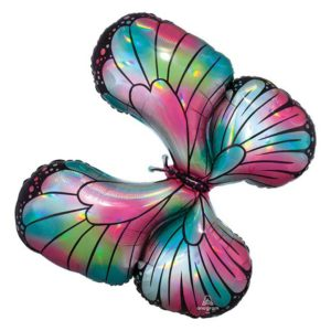30in Holographic Butterfly Balloon