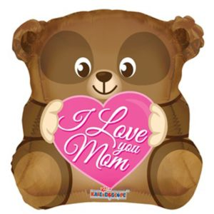 18in I love You Mom Bear Balloon