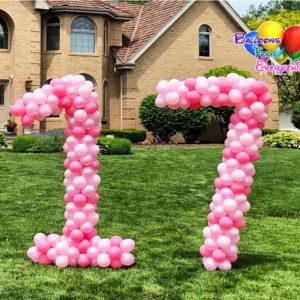 Numbers Balloons Sculptures