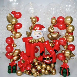 Joy Xmas Balloon Bouquet