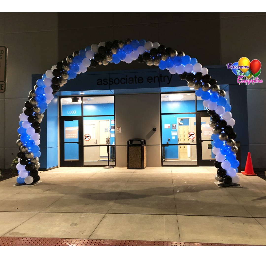 LED Light Spiral Balloon Arch