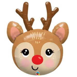 35in Red Nosed Reindeer Balloon