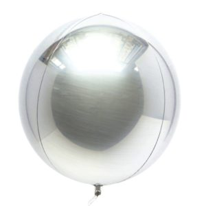 16in Silver Orbz Balloon