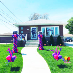 Balloon Decorations, Yard Balloon Decor, Whip-it Stick