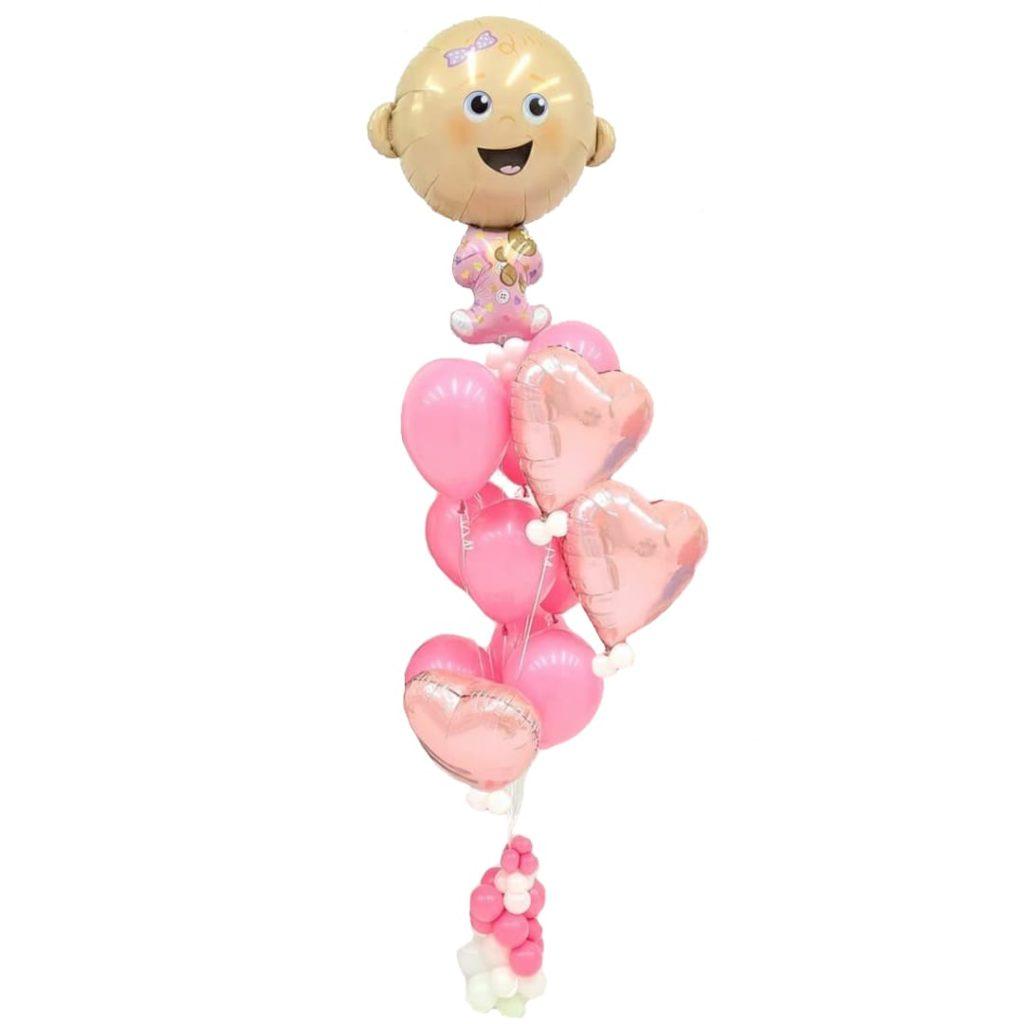 Baby Girl Balloon Bunches