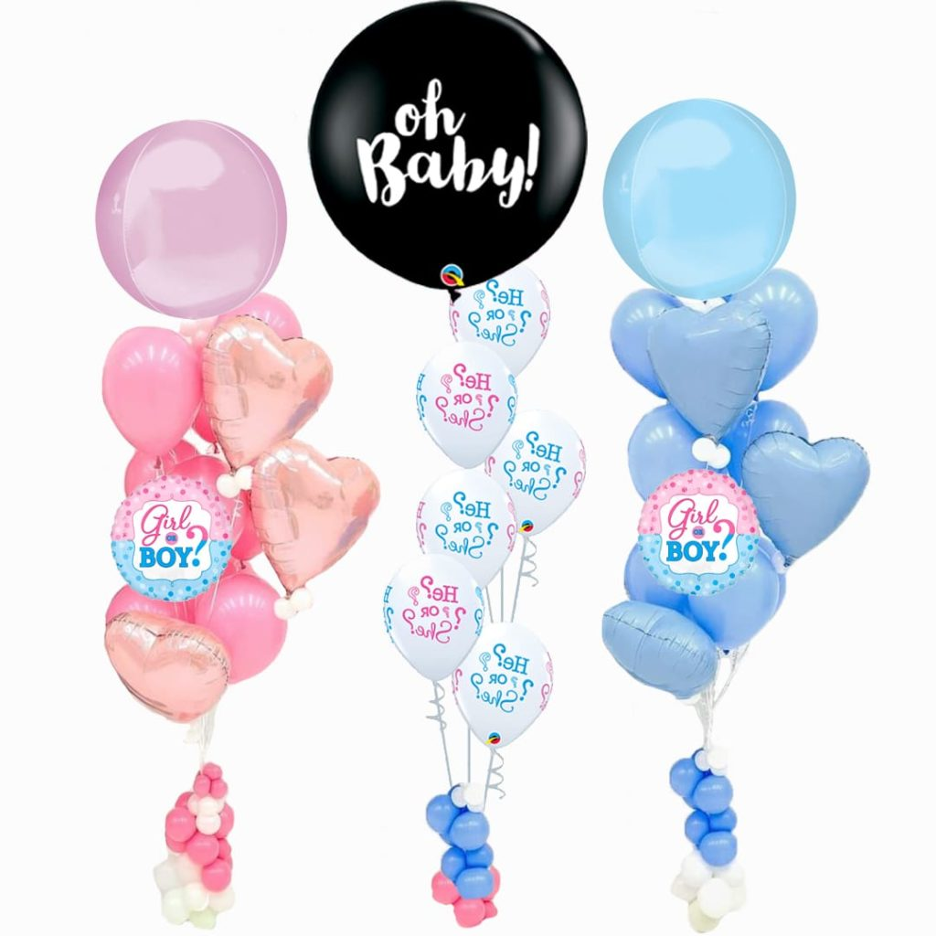 Gender Reveal Balloon Bunches