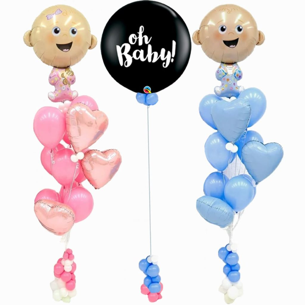 Baby Gender Reveal Balloon Bouquet
