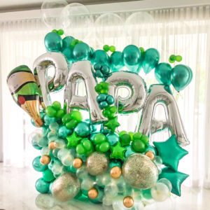 Champagne Dad Balloon Bouquet