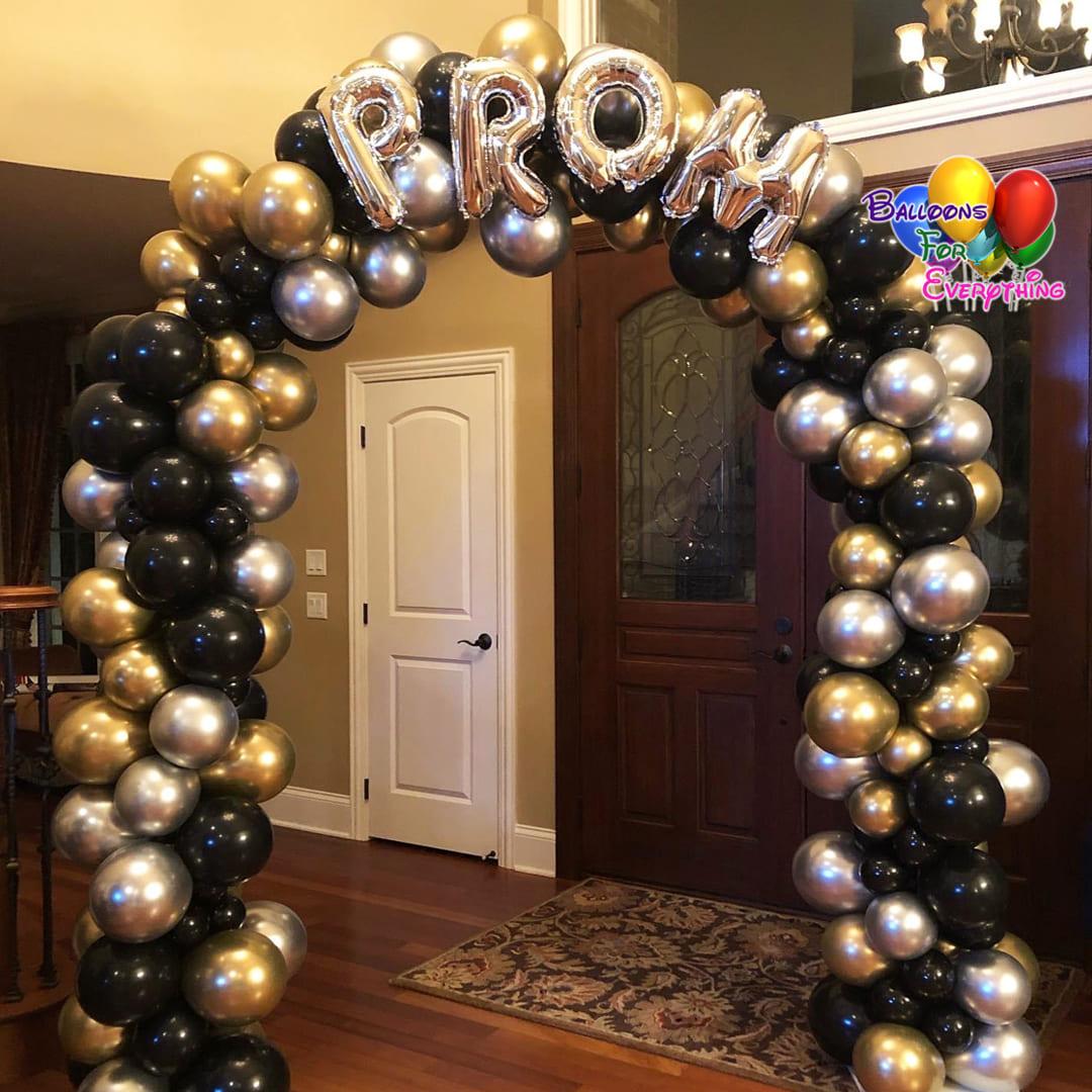 Chrome Organic Balloon Arch