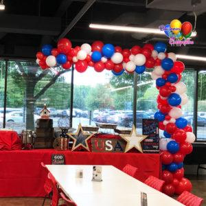 Patriotic Organic Balloon Garland