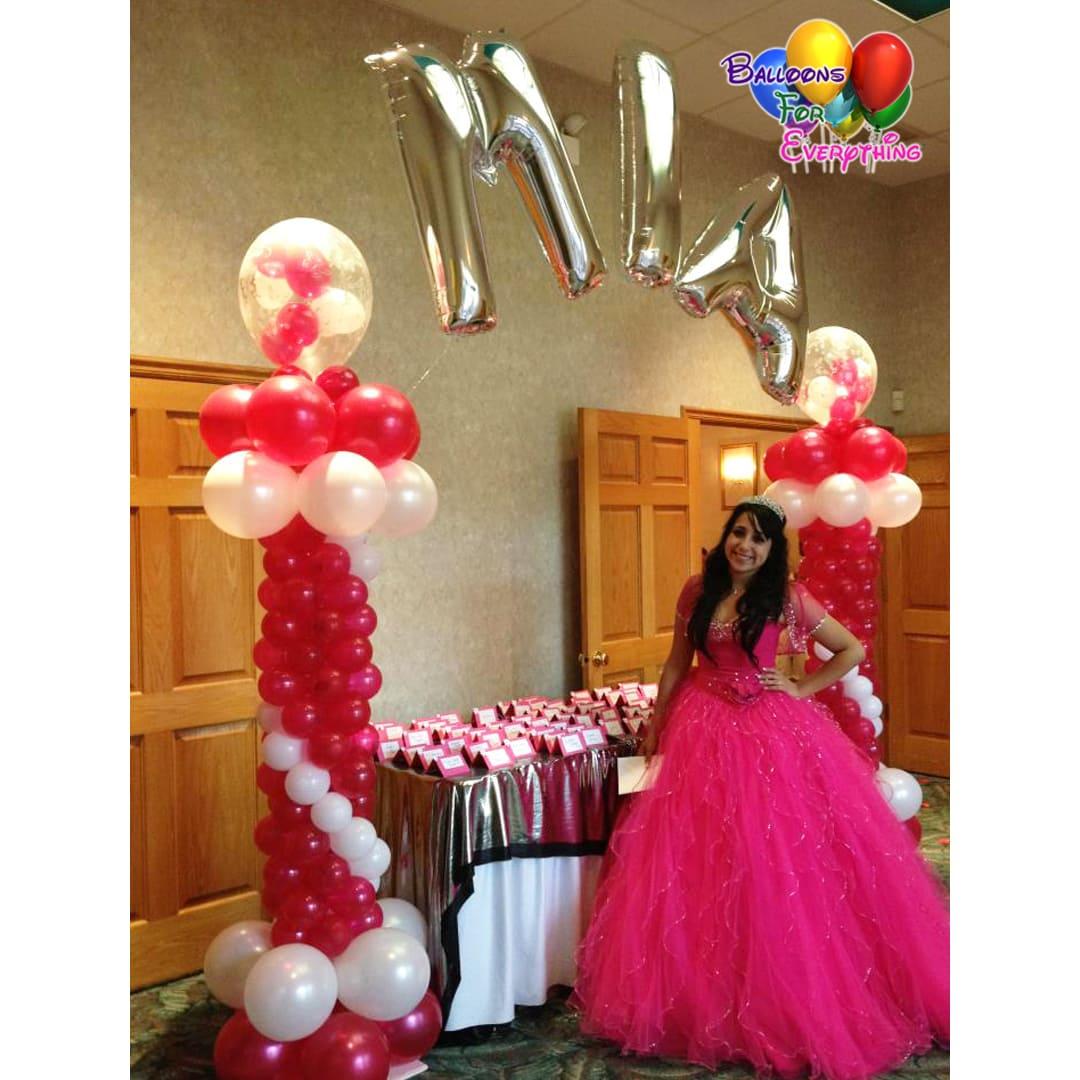 Quincianera Balloon Decorations