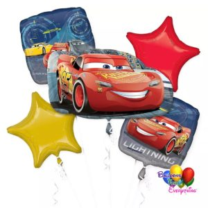 Disney Cars Balloons Bouquet, balloonsforeverything.com, (708) 573 - 4830, chicago area, decorations for parties, balloon bouquets chicago, balloons delivery, balloon artist