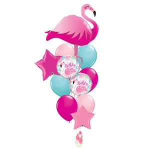 Flamingo Birthday Balloon Bouquet