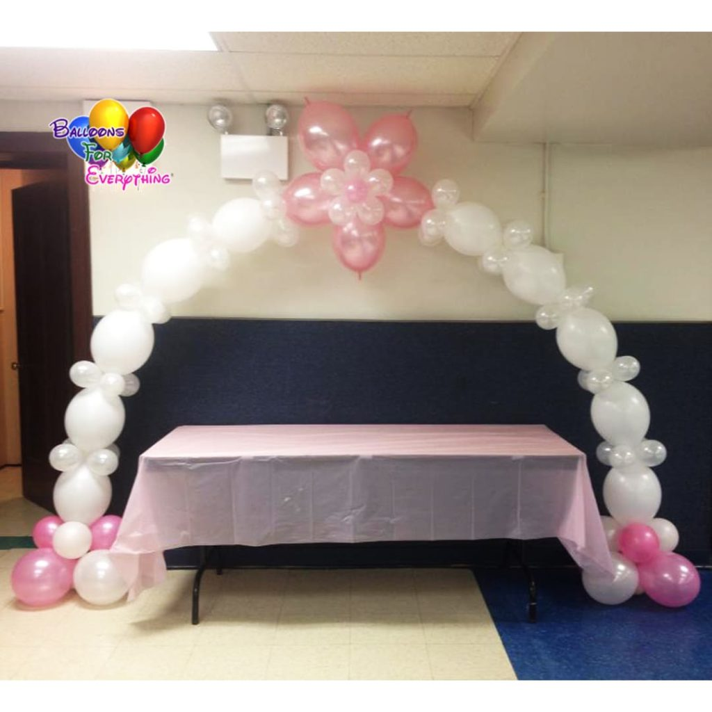 Flower Link Balloon Arch