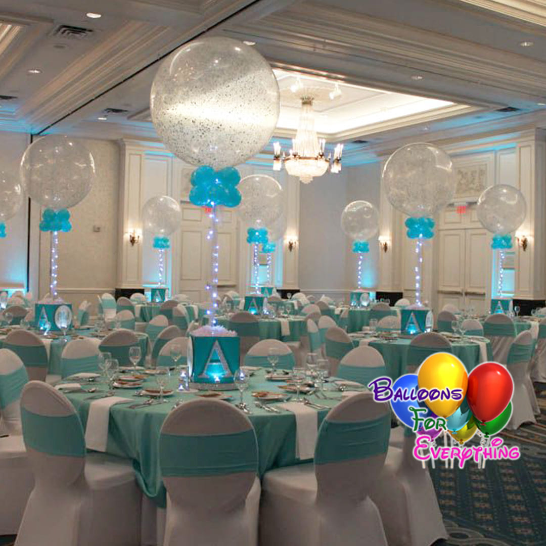 Glitter Balloon Centerpieces