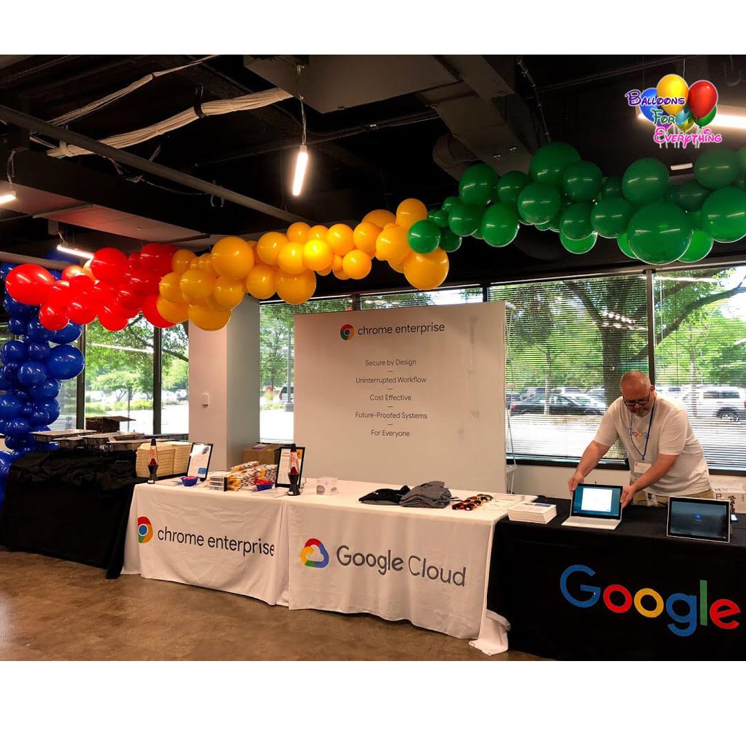 Google Organic Balloon Garland