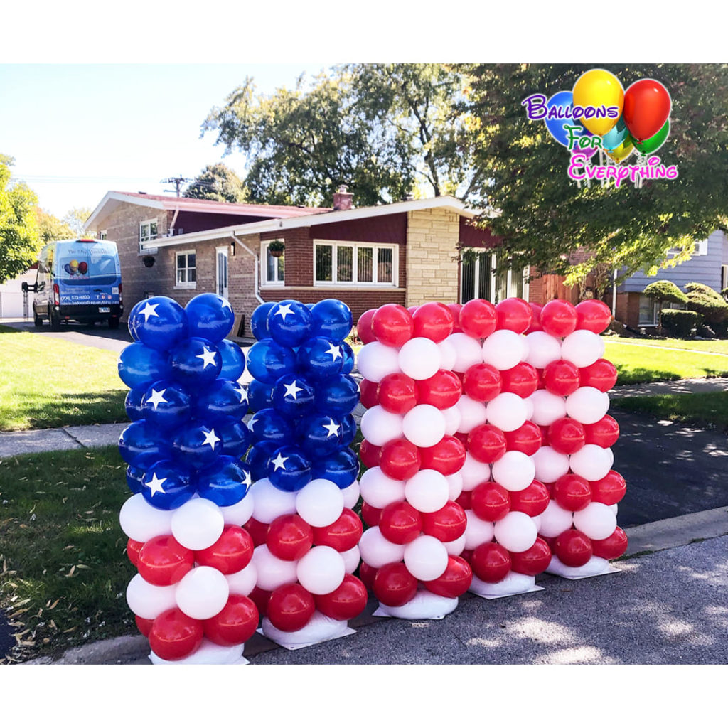 4th of July US Flag Balloon Sculpture