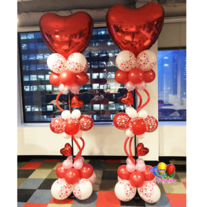 2 – 8ft Heart Balloon Columns