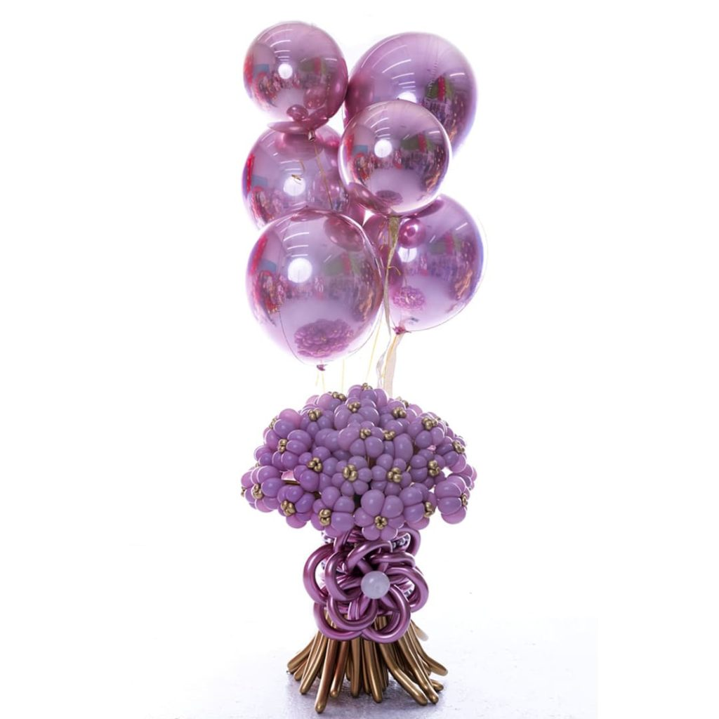 Marvelous Flowers Up Balloons Bouquet