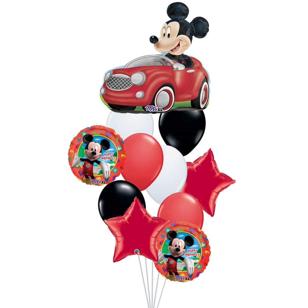 Mickey Driving Balloons Bouquet