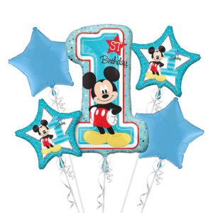Mickey 1st Birthday Balloon Bouquets