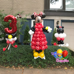 8ft Minnie Yard Balloon Decor