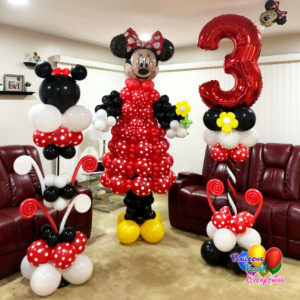 8ft Minnie Set Balloon Sculptures
