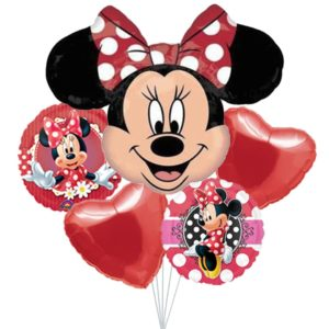 Red Minnie Balloon Bouquet