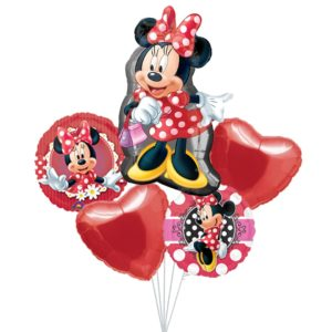 Red Minnie Balloon Bouquets