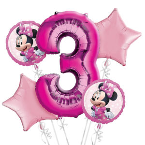 Minnie 3rd Birthday Balloons