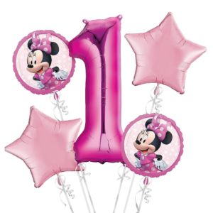 Minnie Birthday Balloon Bouquet