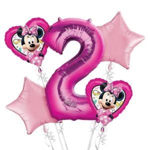 Minnie Birthday Balloons Bouquet