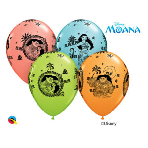 4 – 11in Moana Latex Balloons