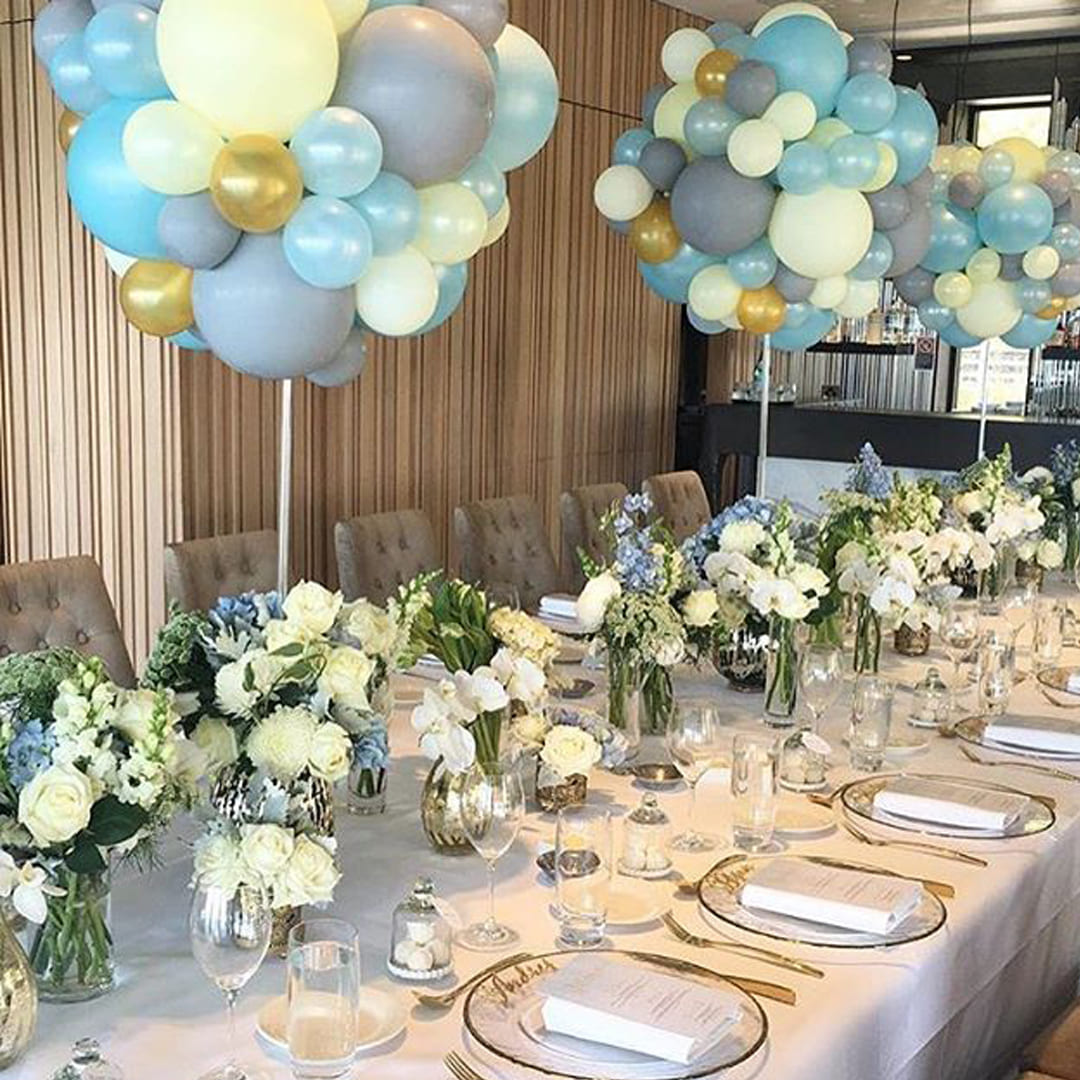 Organic Balloon Centerpieces