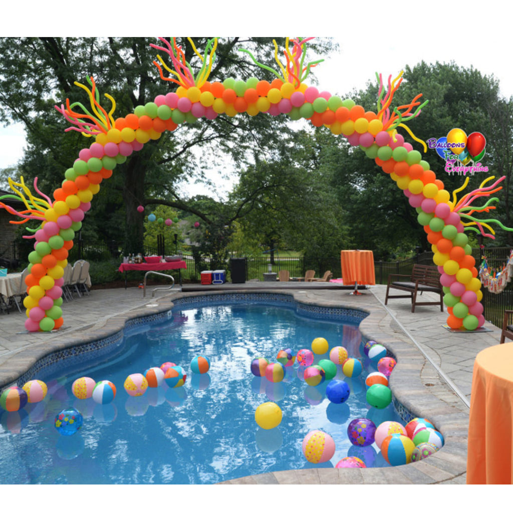 Swimming Pool Balloon Arch
