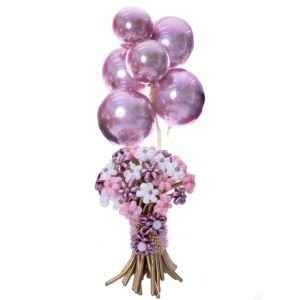 Surprising Flowers Up Balloon Bouquet