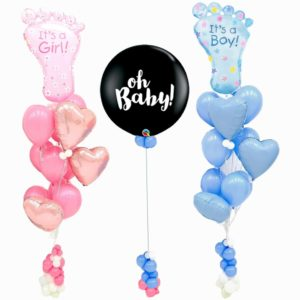 Baby Foot Gender Reveal Balloon Bouquet