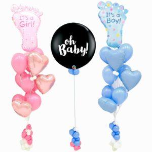 Baby Foot Gender Reveal Balloon Bouquet