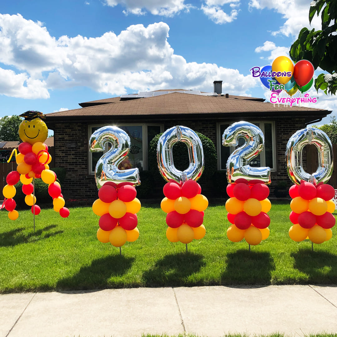 Celebration Yard Balloon Decor