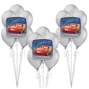 Lightning McQueen Balloon Bunches