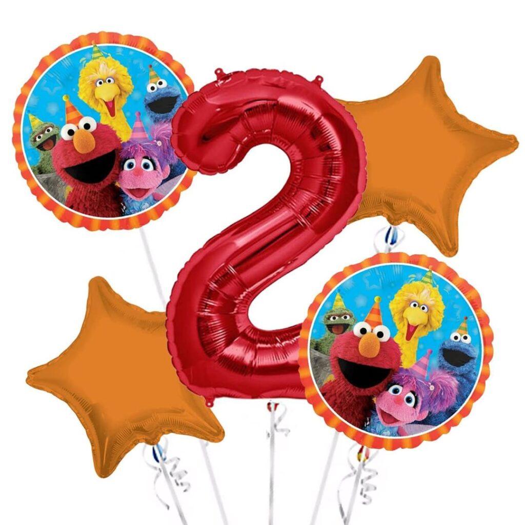 Sesame Street Happy Birthday Balloons