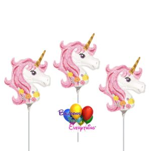 3 – 14in Magical Unicorn Mini Shape Inflated Balloons